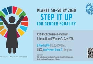 UN Asia-Pacific Commemoration of International Women's Day, 8 March 2016, UNESCAP, Bangkok