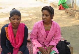 Mentor and friend: Lali Adivasi (right) with Ramkali Adivasi (left)