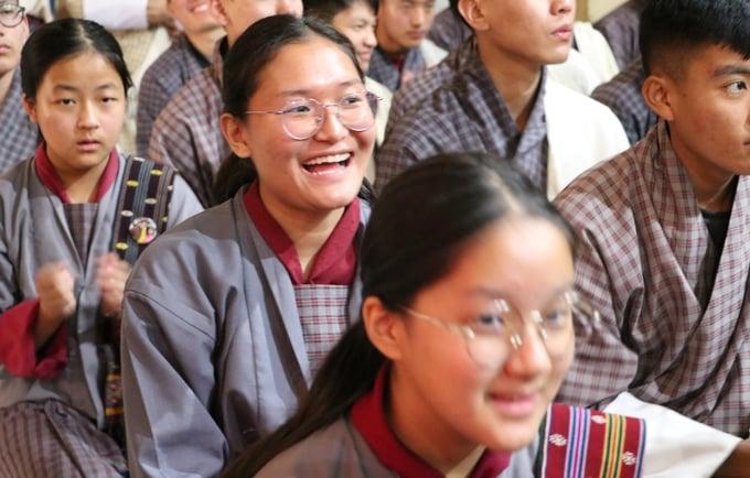 Students from Punakha Valley. Image: Nilanjana Bose/UNFPA Bhutan