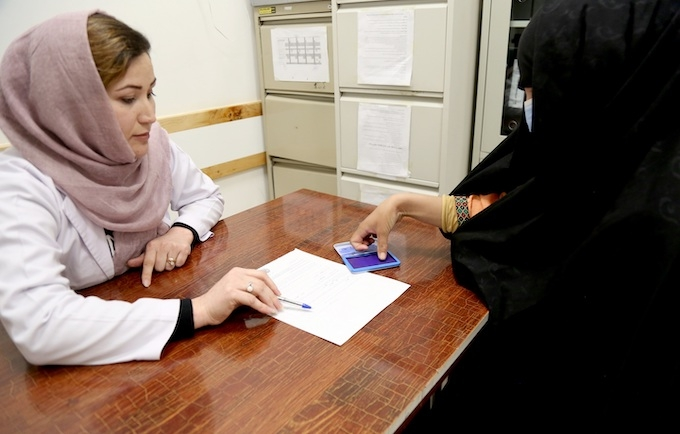 A survivor of gender-based violence receives support at a family protection centre in Afghanistan. © UNFPA Afghanistan