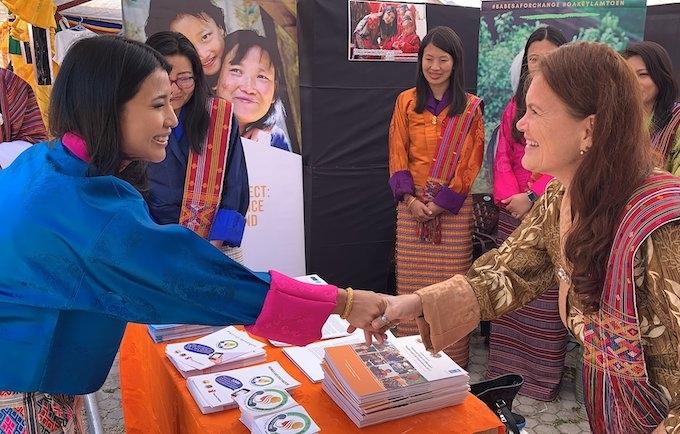 Dr Henriette Jansen meets Her Royal Highness Princess Ashi Chimi Yangzom Wangchuck of Bhutan