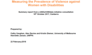 Cover of kNOwVAWdata report on Measuring the Prevalence of Violence against Women with Disabilities