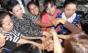 Women join hands to measure violence against women prevalence in Asia and the Pacific.