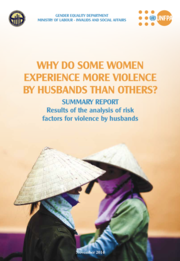 Cover of Why do some women experience more violence by husbands than others? (Viet Nam summary)