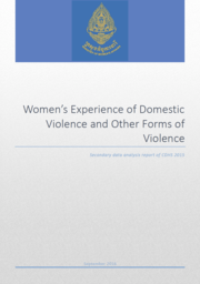 Cover of Women's Experience of Domestic Violence and Other Forms of Violence in Cambodia