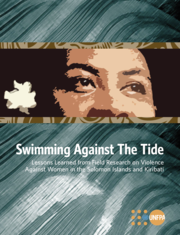 Cover of Swimming Against the Tide: Lessons Learned from Field Research on Violence Against Women in the Solomon Islands and Kiribati