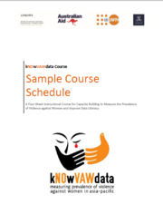 Cover of Sample curriculum: kNOwVAWdata Course on the Measurement of Violence against Women