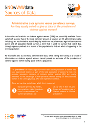 kNOwVAWdata Sources of Data