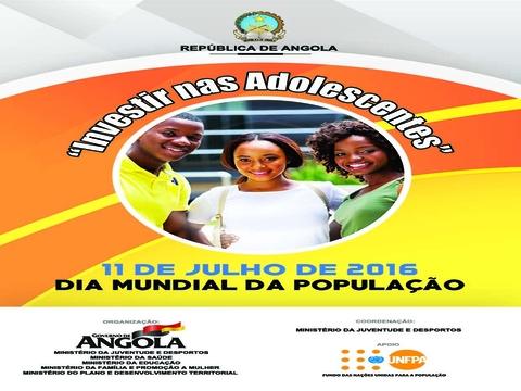 Dia Mundial da População 2016 - Investir nas adolescentes